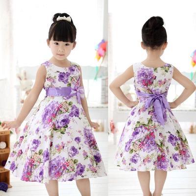 254d4d79a81a3 Les filles Chic Kids fête de mariage de la princesse fleur pourpre Bow robe  plein robes