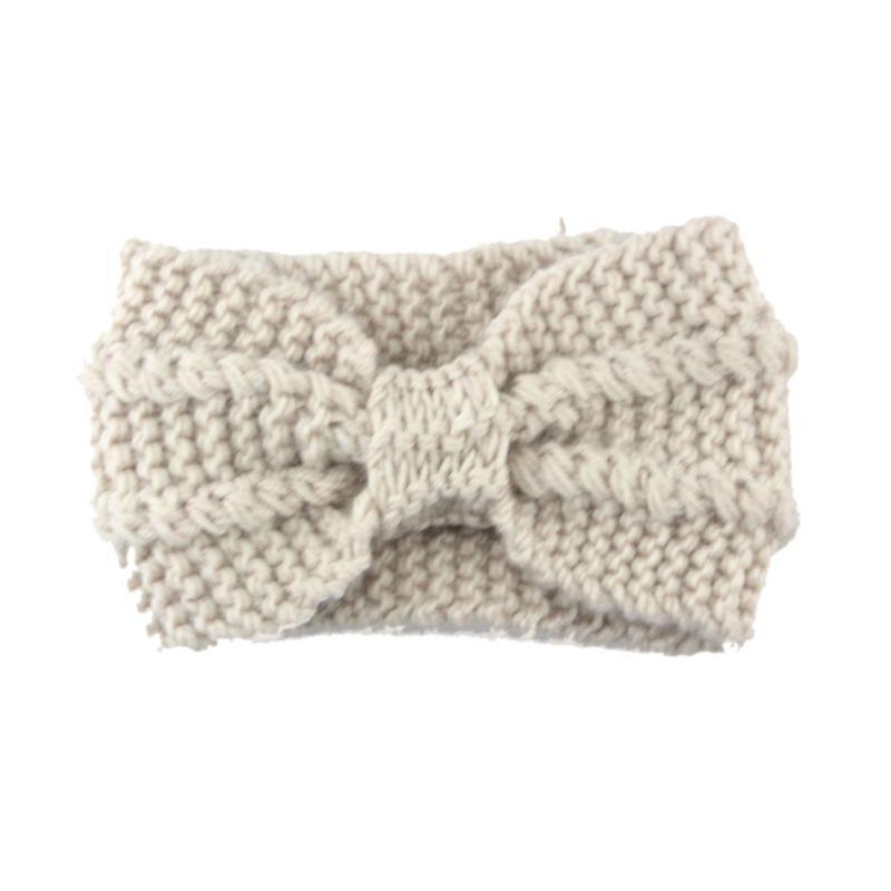 Abrigo de lana Crochet punto arco invierno diadema oído calentador ...