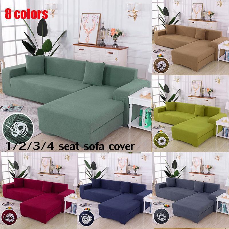 Elastic Magic Sofa Cover For Living, Living Room L Shaped Sofa