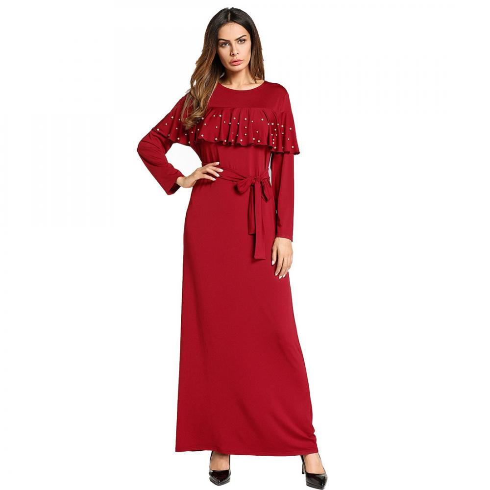 Muslime Stil Frauen festen langen Ärmeln lose Kleider Nahost Abaya ...