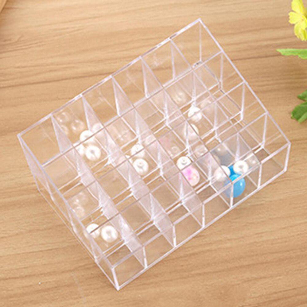 24 Grid Lip Stick Хранение Box Организатор Дело Макияж Держатель Прозрачный Trapezoid Косметический случай – купить по низким ценам в интернет-магазине Joom