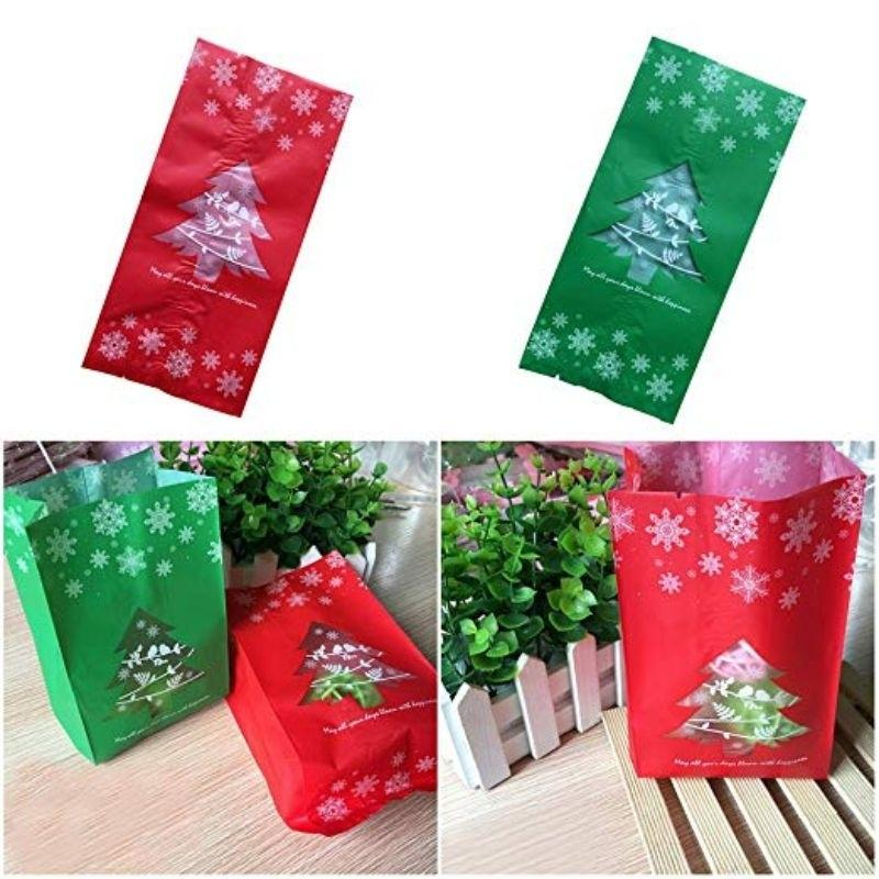 50pcs Christmas Gift Bags Candy Paper Bags With Snowflake Xmas Dessert Cookie Bags Christmas Buy At A Low Prices On Joom E Commerce Platform