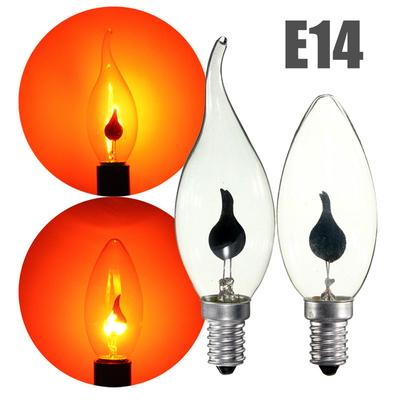 c02c77b6090 E14 220V 3W Retro Candle Fire Flame Tail Bulb Edison Light Bulb Lamp  Chandelier