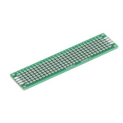 Double Side Prototype PCB Tinned Universal FR-4 Glass Fiber Breadboard 5x7cm