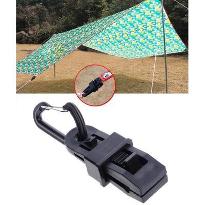 Reusable Tent Snaps Clamps Nylon Heavy Duty Lock Grip Tent Tarp Clips with Thumb Screw Tent Tarpaulin Clamps 4Pcs