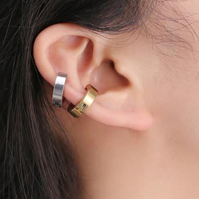 d17a3cdaaef1 1 pc joyas Unisex moda Multicolor Punk titanio acero oído Clip accesorios