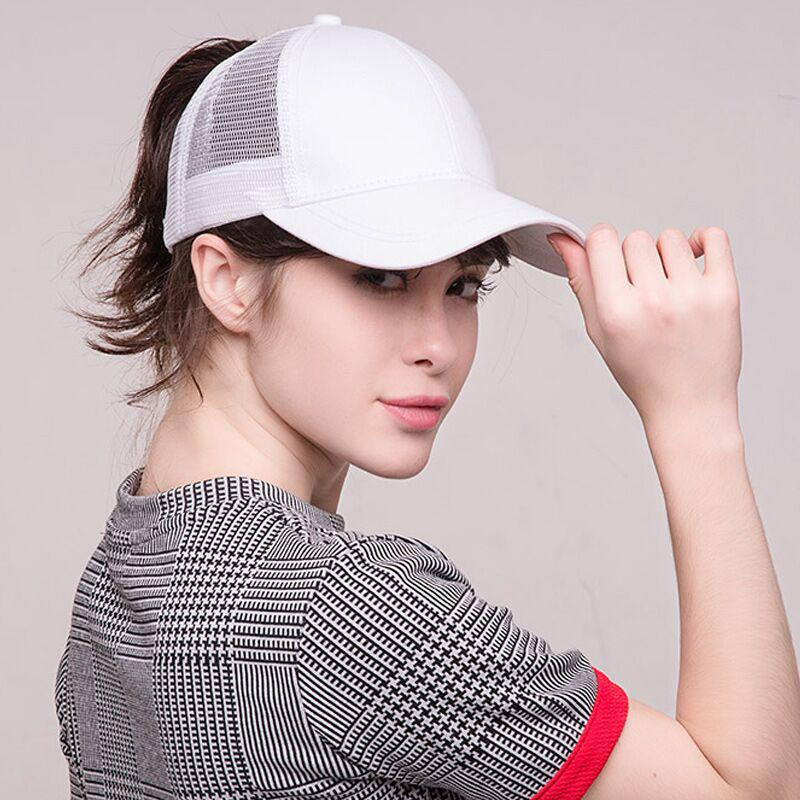 d8021a4dc6880 2018 Ponytail Baseball Cap Women Messy Bun Baseball Hat Snapback-buy at a  low prices on Joom e-commerce platform