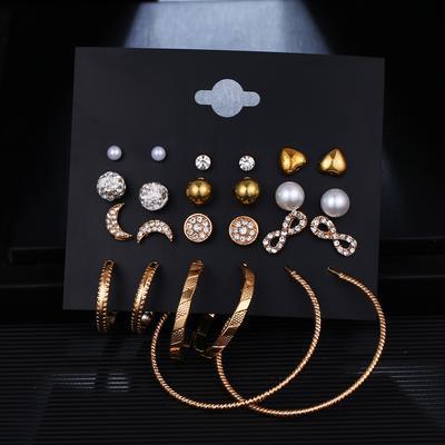 1 Paire Fashion pour femme élégant Charm Big Pearl Boucles D/'oreilles Clous Mariage Bijoux