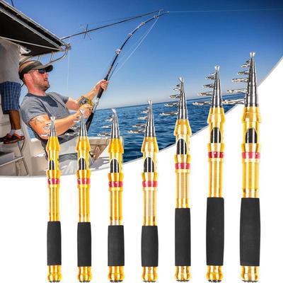 Glass Fiber Sea Fishing Rod Outdoor Telescopic Sea Casting Spinning Fishing Rod Portable Saltwater Fishing Rod Fishing Rod