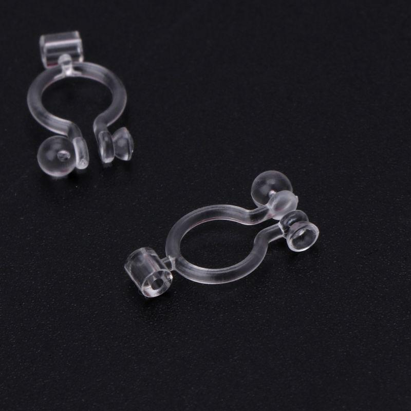 1Pair Earrings Adapter Stud Ear Clips Clip On Converter For Non-pierced People