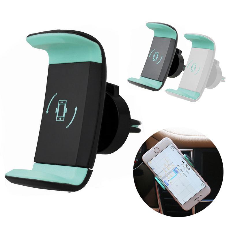 Универсальный Pdtoweb 360° вращение GPS автомобиля держатель сотового телефона воздуха вентиляционные монтирования стенда фото