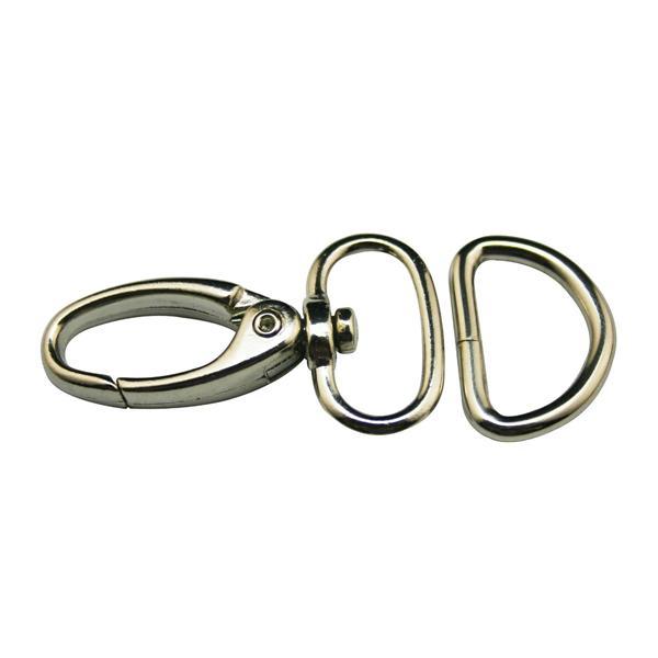 360 Swivel Trigger Clip en Acier inoxydable Snap Crochet pour porte-clés//chien Laisses
