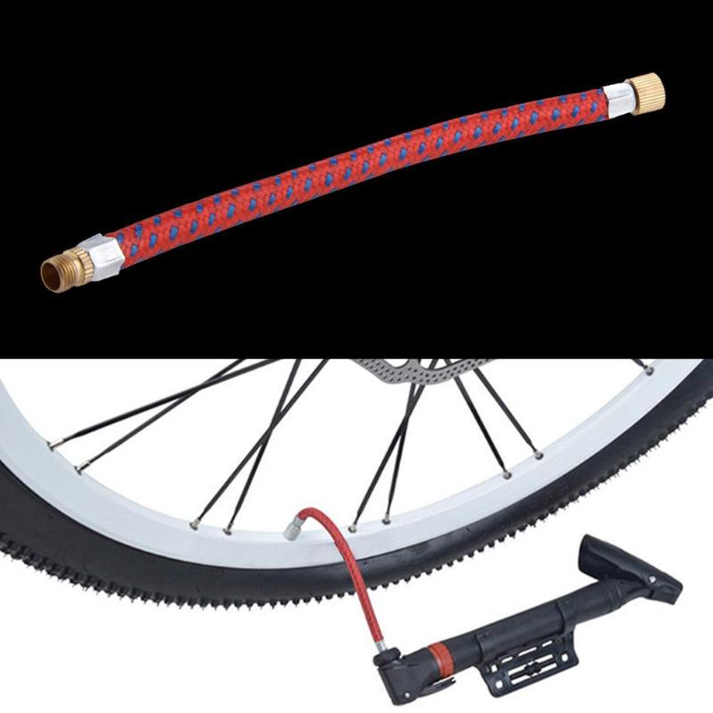 1PC MOUNTAIN BICYCLE PUMP EXTENSION HOSE VALVE INFLATOR TUBE PIPE CORD BIKE