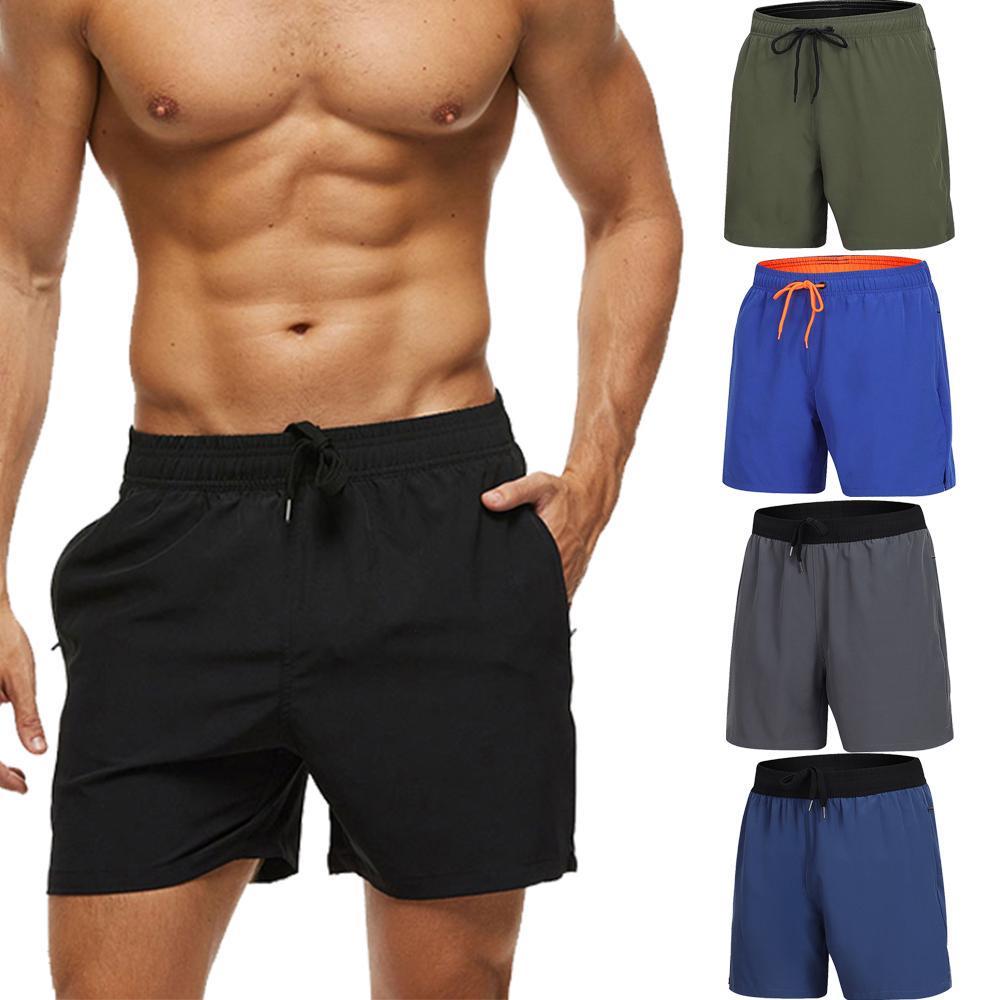 Summer Men/'s Straight Beach Shorts Pants Half Trousers Plain Leisure Outdoor B