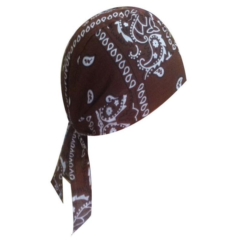 Motorcycle Wrap Biker Hat Do Web Bandana Doo Rag Du Head Skull Cap XL Size Great