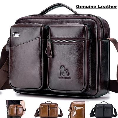 Gift Package,(16 x 4 x 20 cm // 6.3 x 1.6 x 7.9 INCHES ,Brown GAOPENG Mini Slim Mens Leather Shoulder Bag,Crocodile Pattern Texture Chest Bag,Suitable for Business Outdoor Travel Leisure