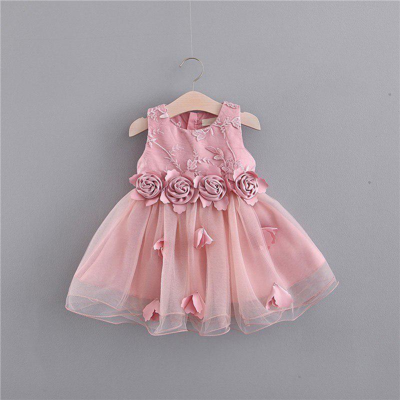 Pretty Cute Toddler Baby Girls Ruffles Sleeve Dress Summer Sequins Gauze Clothes