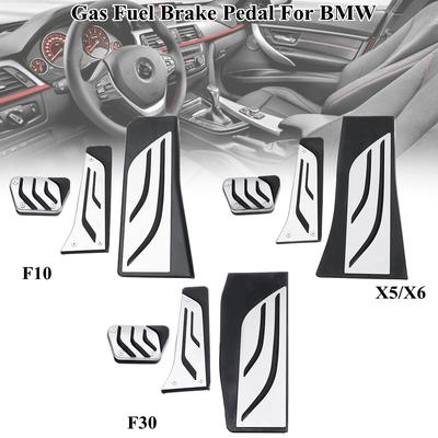Fuel+Brake Pedals Fuel Gas Brake Pedal Fits: 1 3 5 6 7 Series X3 X5 X6 Z4 M3 M4 Anti-slip AT Accelerator Brake Pedal Cover No Drill Heavy Duty Stainless Steel