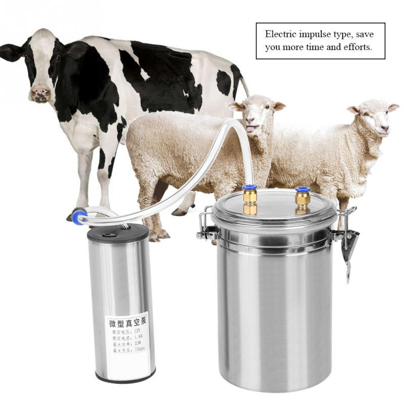 14L Dual Head Electric Milking Machine Vacuum Stainless Steel Cow//Goat Milker