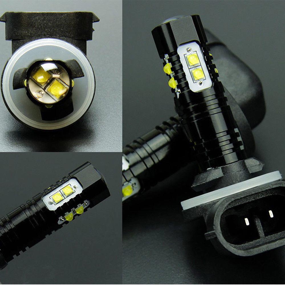 Ricoy 2pcs 880 LED Fog Lights Bulbs or DRL 50W 2000 Lumens Automotive 899 LED Fog Light Bulbs Replacement IP68 6000K Super Bright LED Driving Lights Xenon White 2 Year Warranty