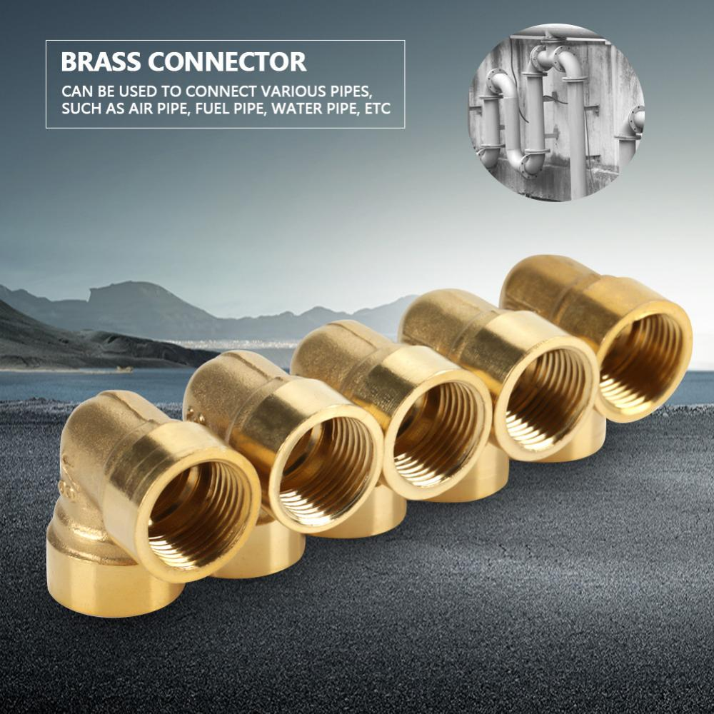 """5PCS 1//8/"""" BSPP Connection Elbow Female-Male Pipe Brass Adapter Coupler Connector"""