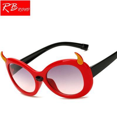 3f06c851e0 RBROVO 2019New Cartoon niño gafas de sol al aire libre Candy color sílice  gel animales modelado
