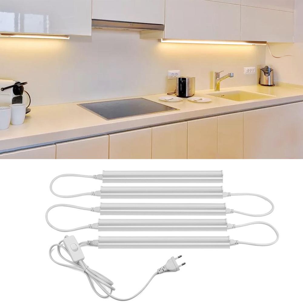 Full Set T9 LED Tube Light LED Cabinet Light Aluminum T9 Tube Lights AC  9V Kitchen Lamp Indoor Lighting For Home Decoration LED Bar Light