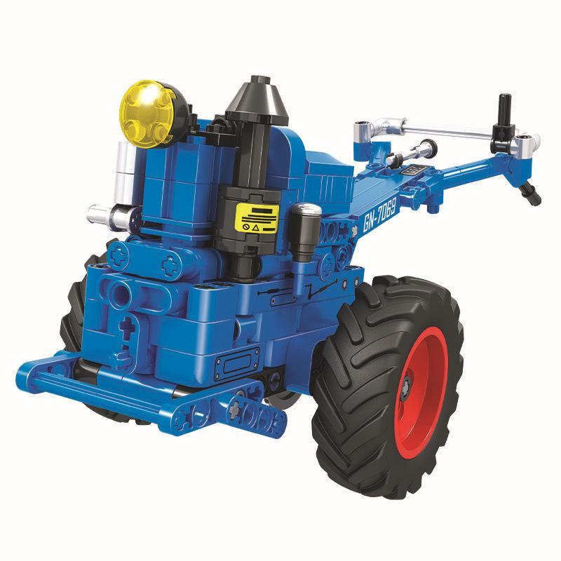 Building Blocks Assemble DIY Technic Series Walking Hand Tractor Kids Toy Gift