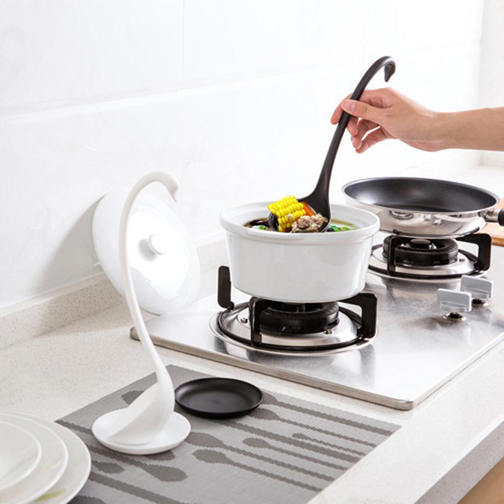 Длинной ручкой Лебедь ковш суп ложкой пластиковая посуда Посуда кухня приготовления ложкой Аксессуары фото