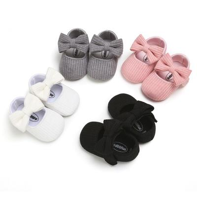 Cute Autumn Baby Girl Anti-Slip Casual Walking Shoes Bow Sneakers Soft Soled First Walkers