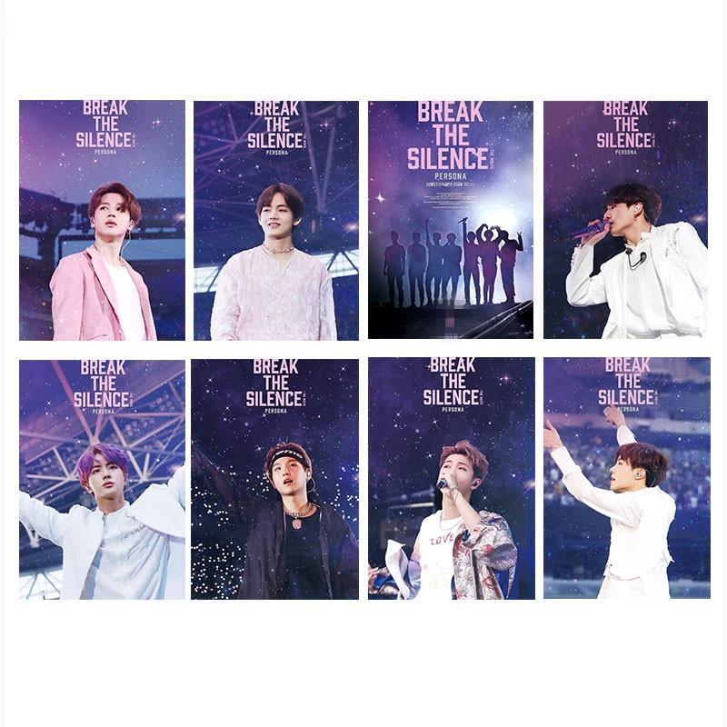 8PCS Kpop BT21 BTS BREAK THE SILENCE Ломо Карта Сувенирная открытка Idol Коллекционирования Bangtan Boys Фотокарта купить недорого — выгодные цены, бесплатная доставка, реальные отзывы с фото — Joom