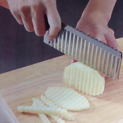 1Pc Vegetable?Cutter Stainless Steel?Potato Wavy Edged Cutter Knife?Gadget?Potato Cutter