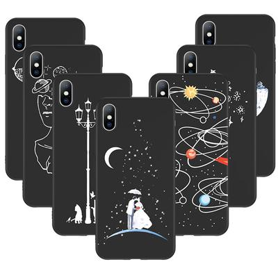 77g Space Love Moon Astronaut Soft Tpu Silicone Cover Case For Samsung Galaxy J5 J7 2017 Half-wrapped Case