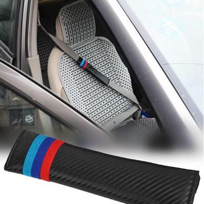 Carbon Fiber Car Seat Belt Pad Cover Shoulder Cushion