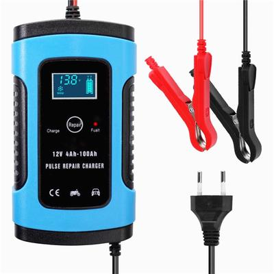 12V6A Intelligent Pulse Repair LCD Car Battery Charger For Automobile Motorcycle