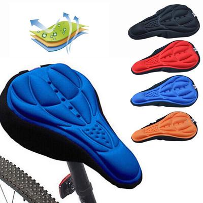 Bike Seat Cover Extra Soft Gel Bicycle Saddle Cushion Comfort Breathable Saddle Cover with Drawstring Waterproof Cover for Bike Mountain Road Bike Outdoor Cycling Black Gray 1pc