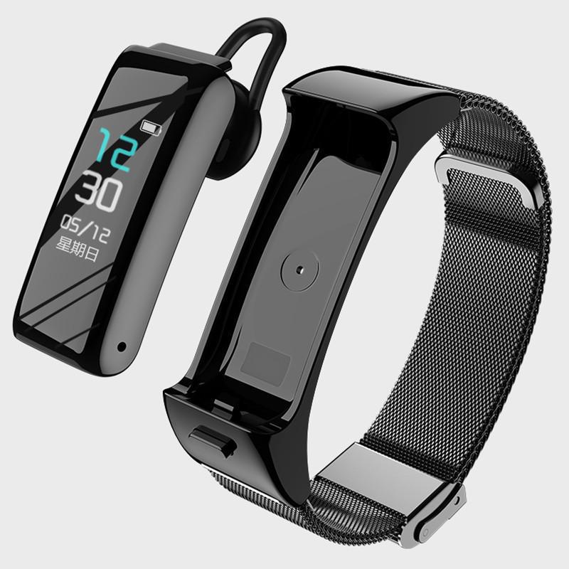 B6 Smart Bracelet Bluetooth Headset 2-in-1 Waterproof Heart Rate Monitor Men Women Sport Watch Clock Smart Watch Headphone For Android IOS Phone-buy at a low prices on Joom e-commerce platform