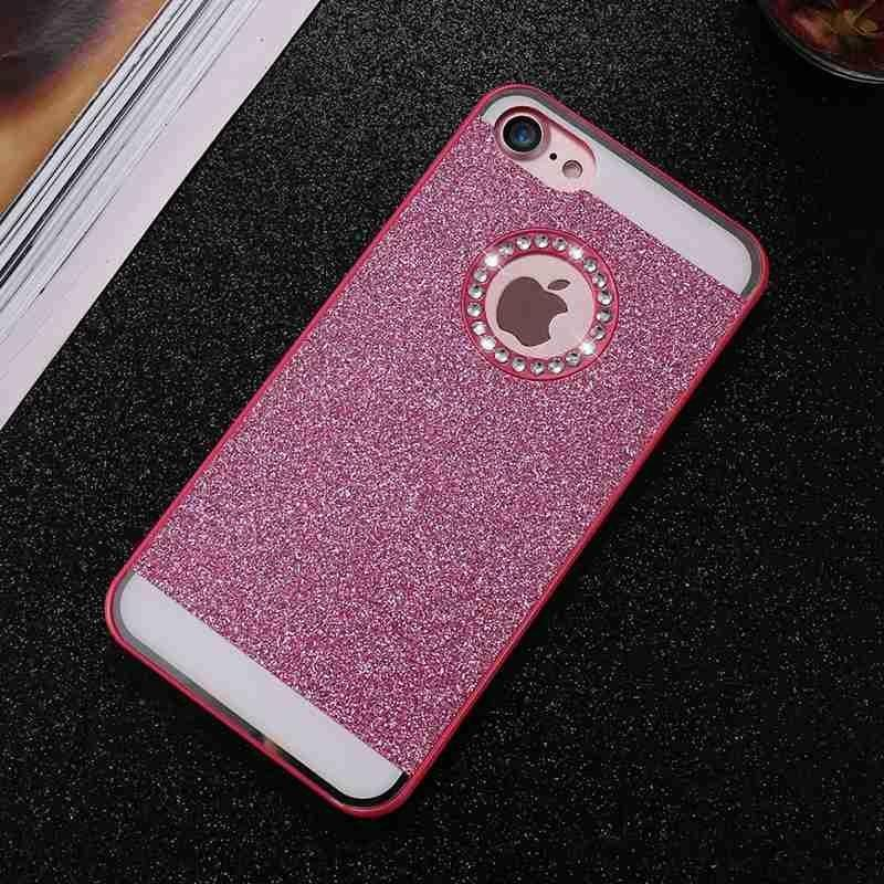 新款闪粉苹果 X手机壳 iphone7PLUS水钻手机套 5s/6S镶钻保护外壳