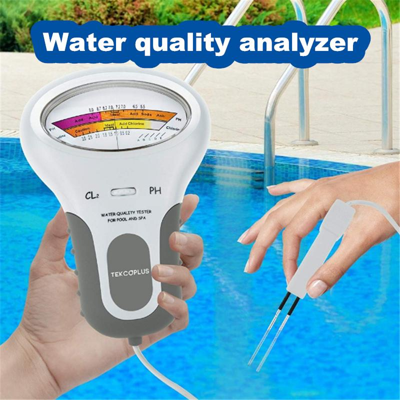 Digital Meter Chlorine gas PH Tester Pool Water Quality Purity Test Pen Stick