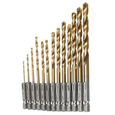 1PCS Tige Hex Titane Plaqué Filetage Perceuse Embouts Set composé TAP M3-M10