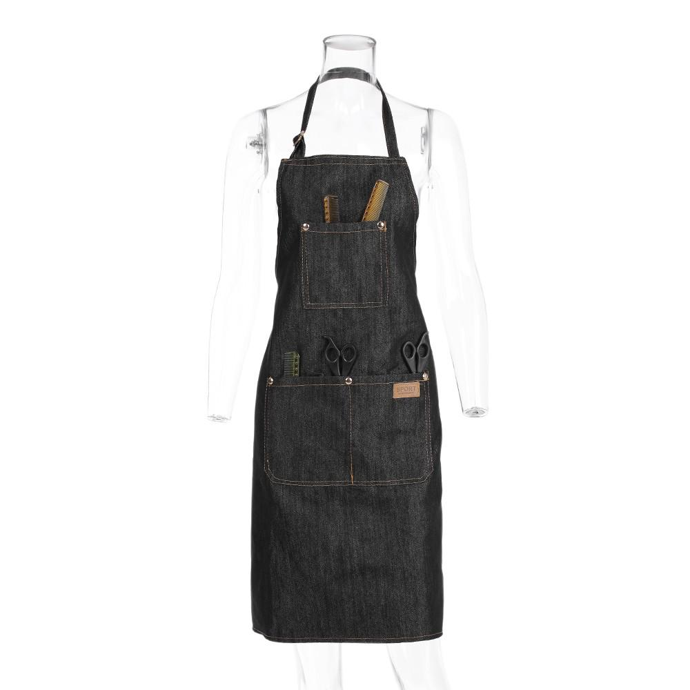 Heavy Duty Work Carpenters Hairdresser Apron for Men Women Professional Hair Cutting Aprons Leather Tool Apron Hairdressing Barber Apron Cape for Salon Hairstylist