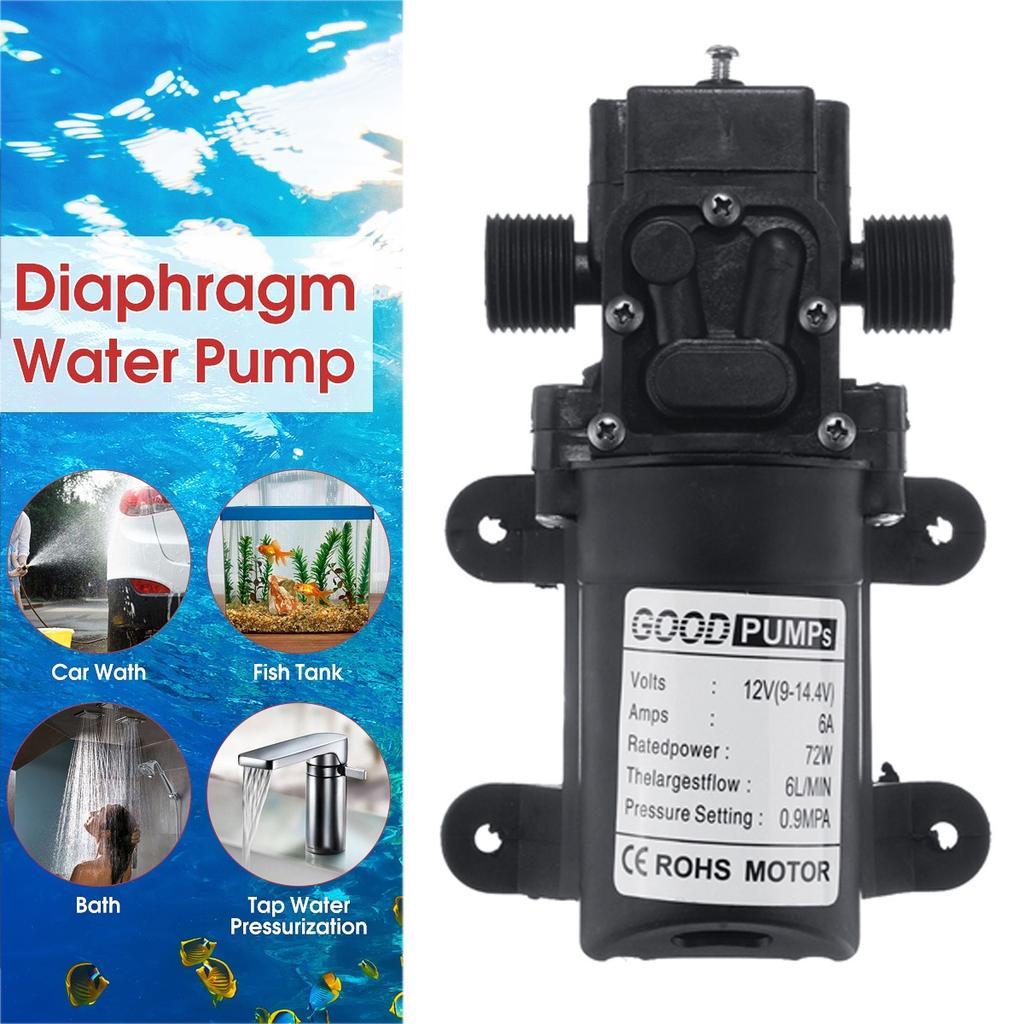 12V DC 70W Water Pump Diaphragm Self Priming RV Camper Marine Boat Shower 130PSI