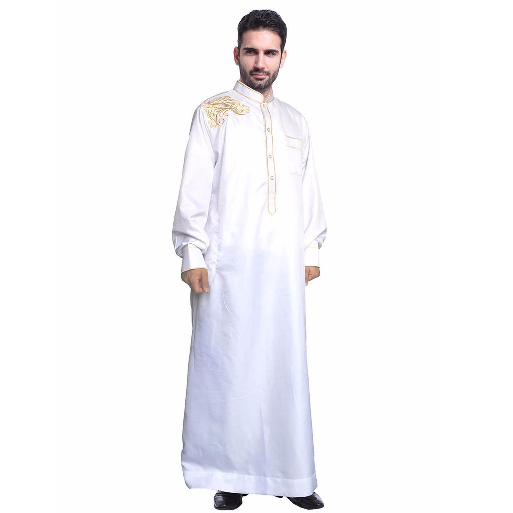 Arab Men S Fashion Long Robe Muslim Islamic Man Clothing One Piece Gown Buy At A Low Prices On Joom E Commerce Platform