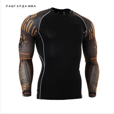 4e5bd08b15331f Dresy Męskie Rajstopy Muscle T -Shirt Fitness Compression Top Bluzy z  długim rękawem