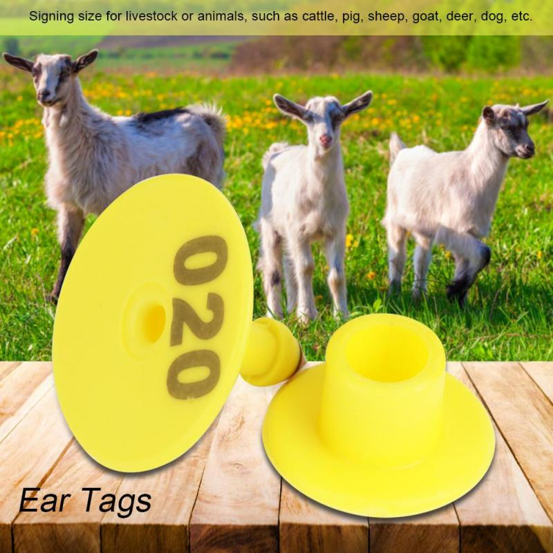 Livestock Ear Tags for Hog Swine Sow with Number 001-100 Cow//Cattle Ear Tags Coolty 100 Pieces Pig Ear Tags