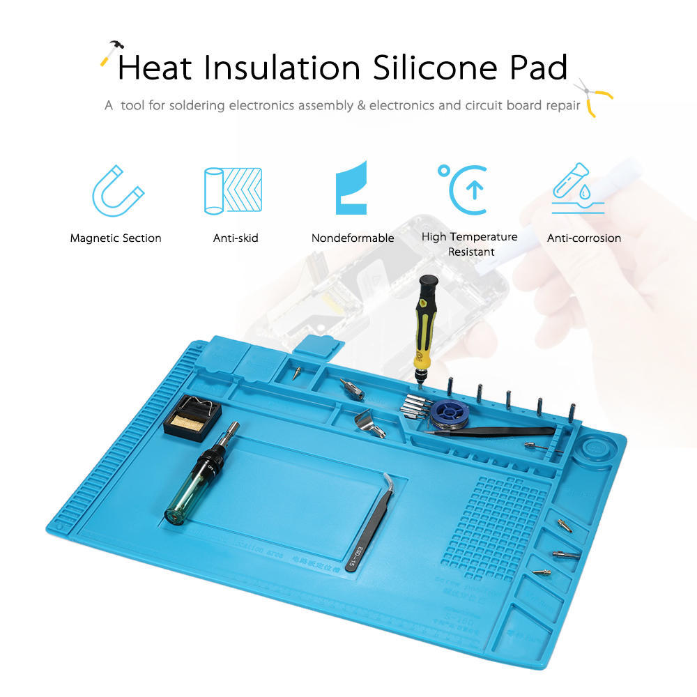 450300mm Heat Insulation Silicone Pad For Bga Soldering Repair Tool Kit 12 Different Tools Circuit Board 2 Of