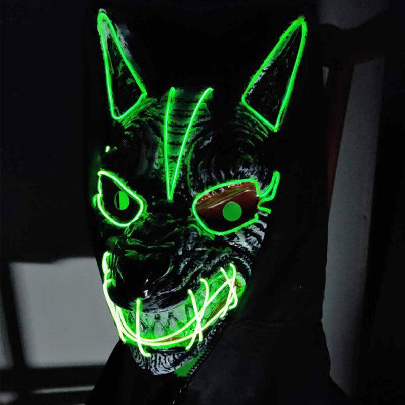 Luminous Mask Festival Costume Marshmallow Holiday Mask Party Cosplay Mask