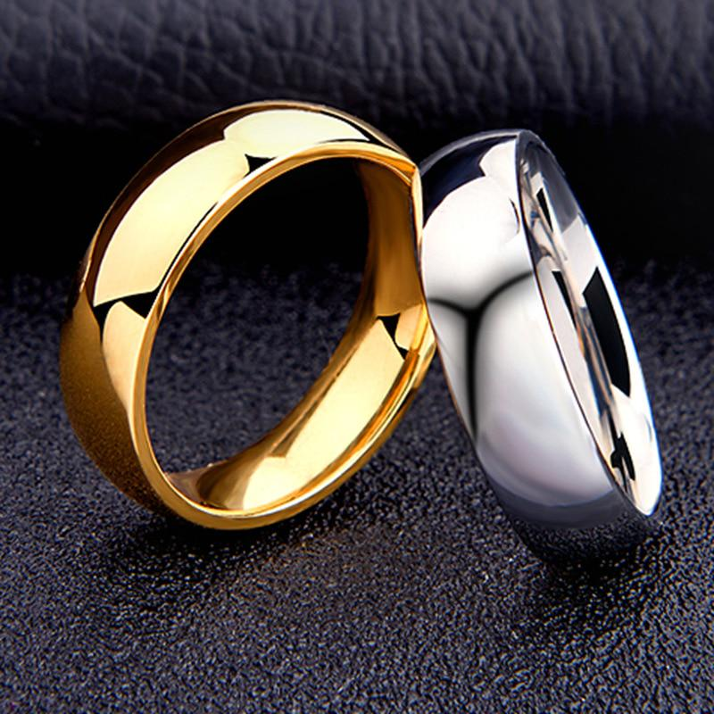 Titanium Steel Ring Mirror Polishting Ring Engagement Wedding Promise Ring for Fashion Wedding Party Jewelry