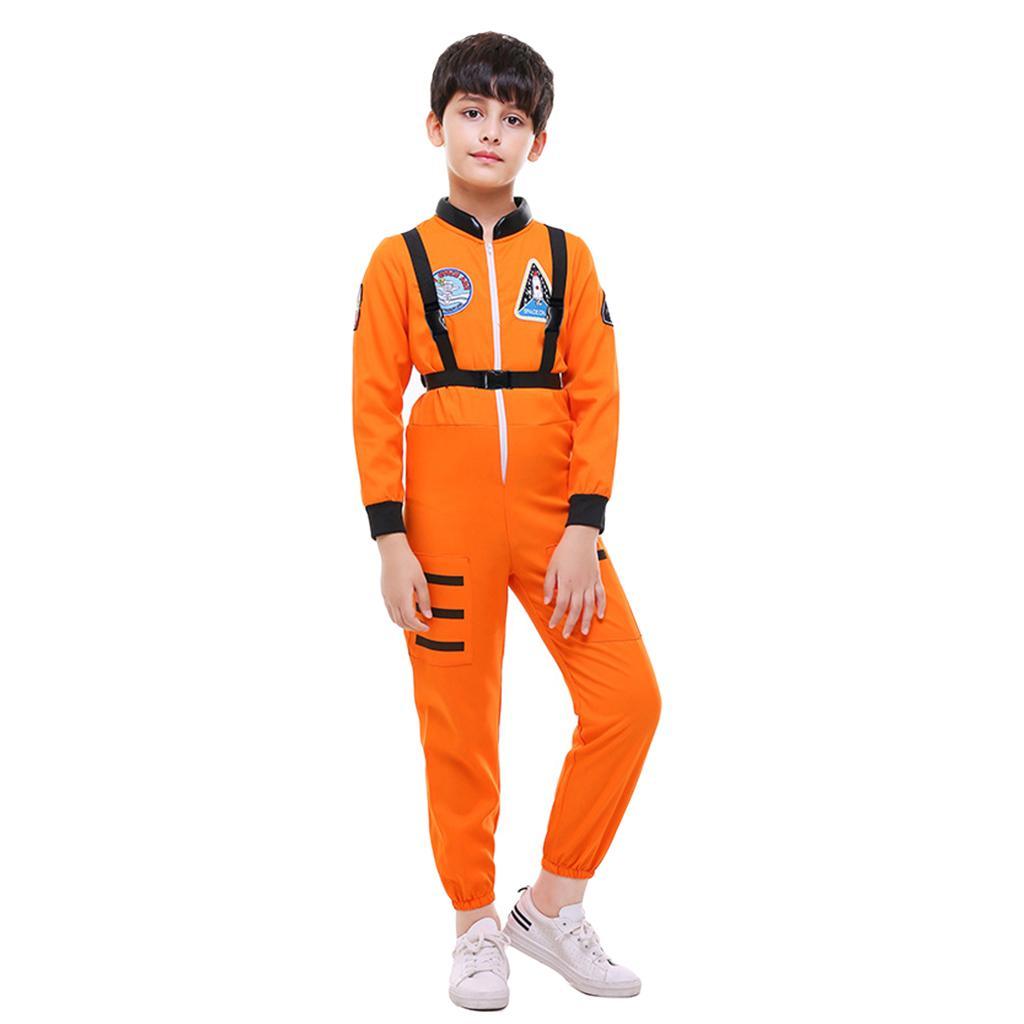 Kids Unisex Astronaut Halloween Costume Dress Up /& Role Play,Orange