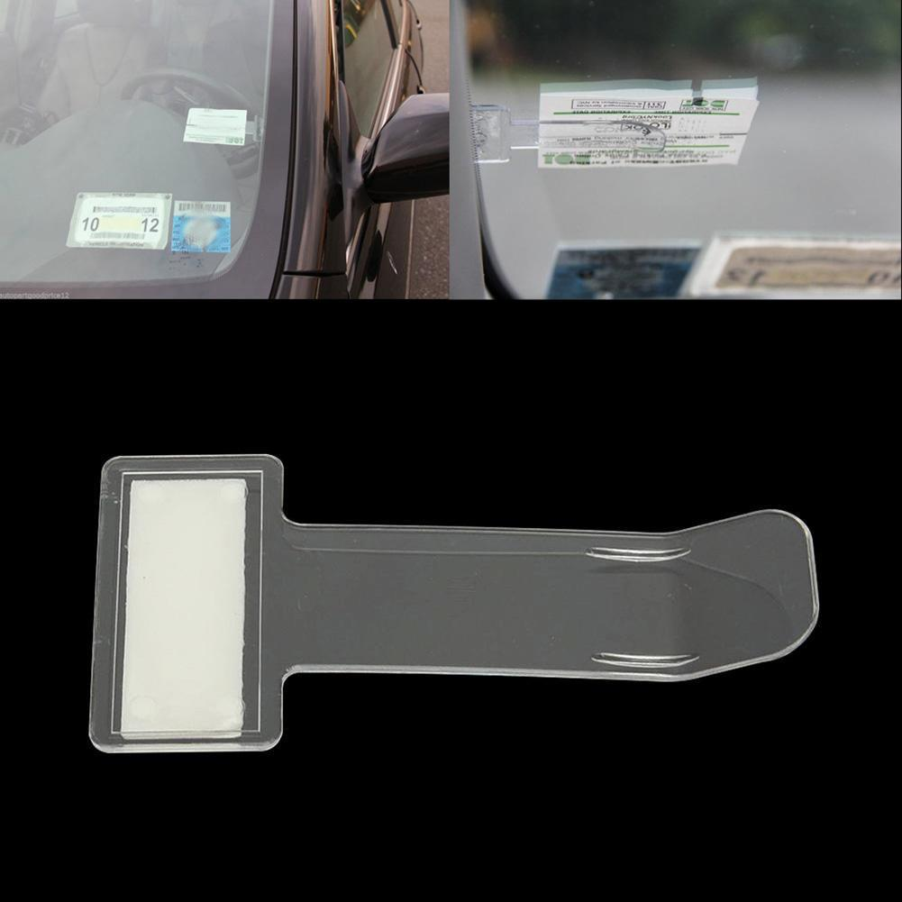 Decorative Accessory 2pcs Car Invoice Ticket Folder Vehicle Parking Ticket Permit Holder Clip Sticker Auto Windscreen Window Holder